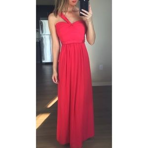 New BCBGMaxAzria Jamille Red Maxi Gown Dress 4